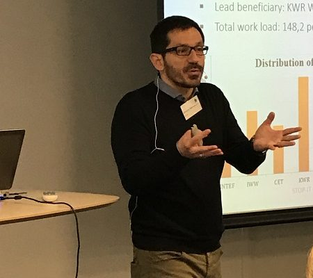 Christos Makropoulos at the STOP-IT meeting in Oslo 2017