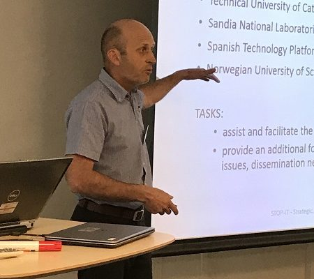 Jon Rostum at the STOP-IT meeting in Oslo 2017